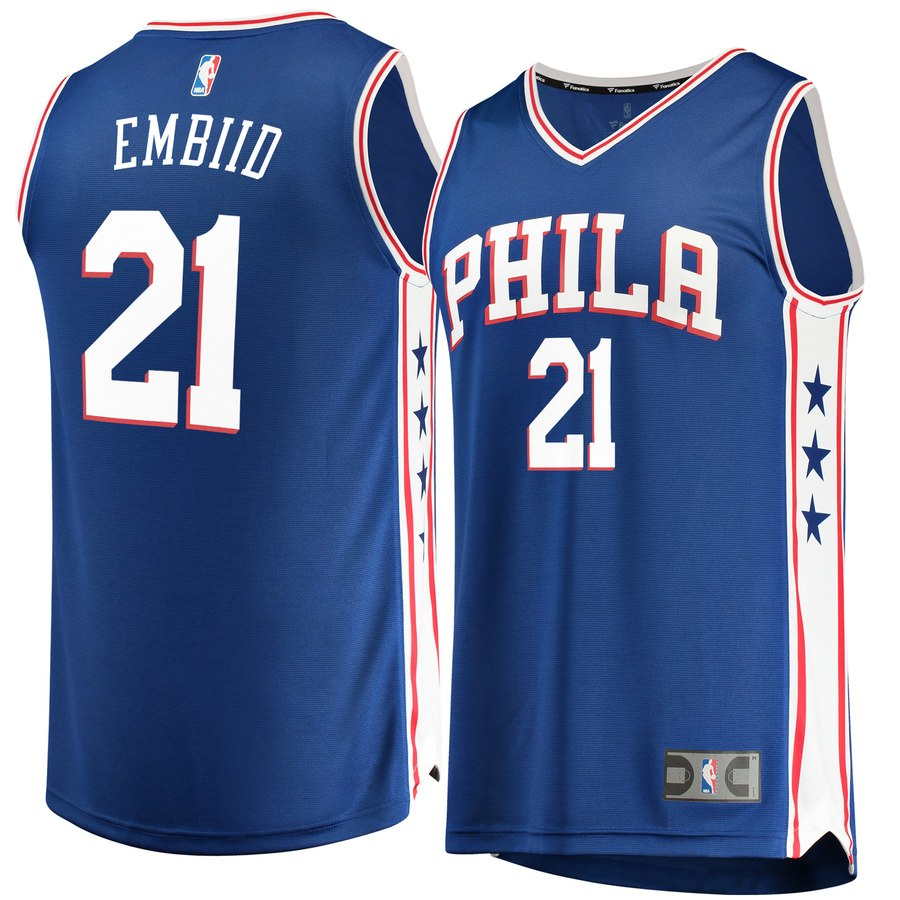 joel embiid nba jerseys 3xl 4xl 5xl in blue 76ers