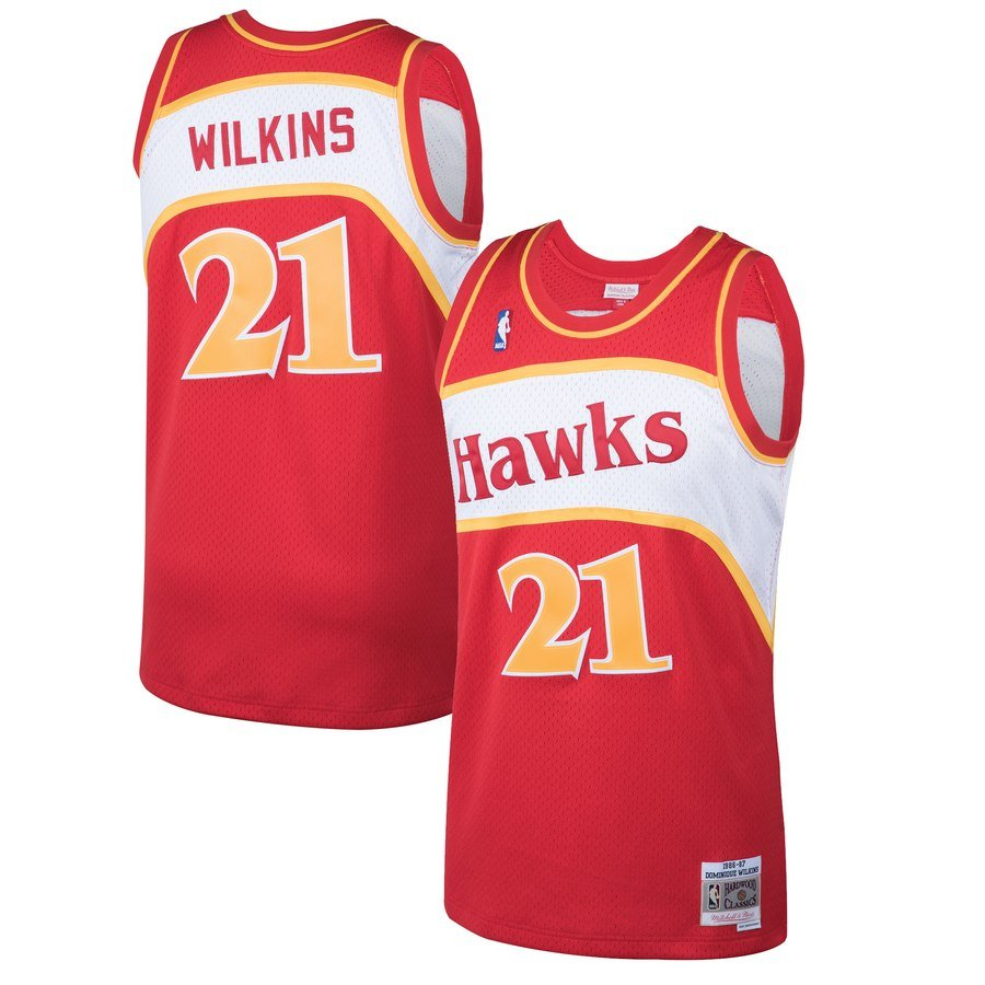 throwback atlanta hawks jersey - dominique wilkins