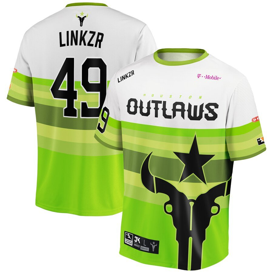 Linkzer Houston Outlaws Jersey - Green and White