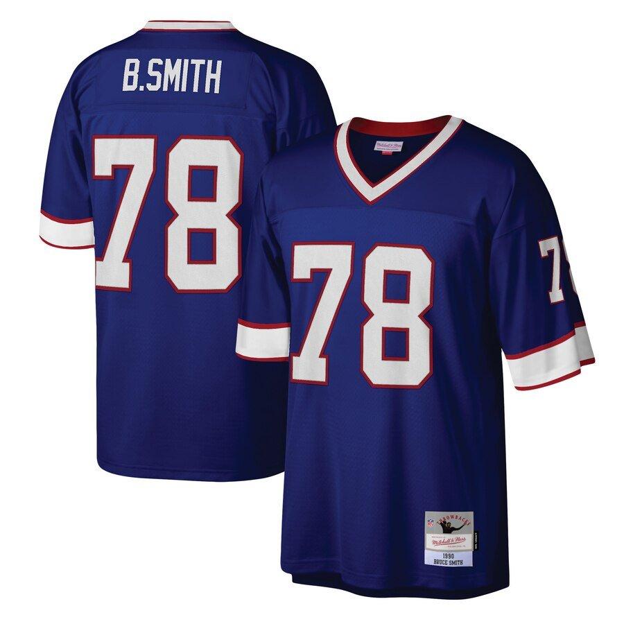Bruce Smith Jersey S-3X 4X 5X 6X XLT 2XLT 3XLT 4XLT 5XLT Bills