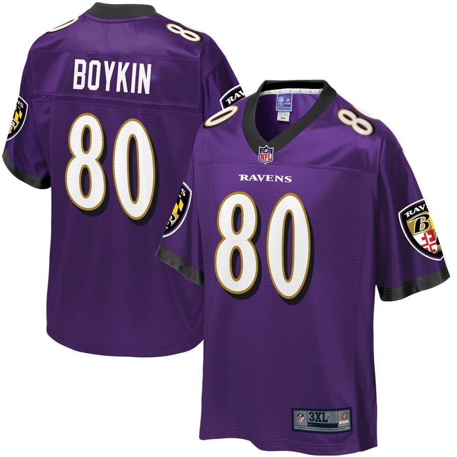 Baltimore Ravens #80 Miles Boykin Draft Game Jersey - Black