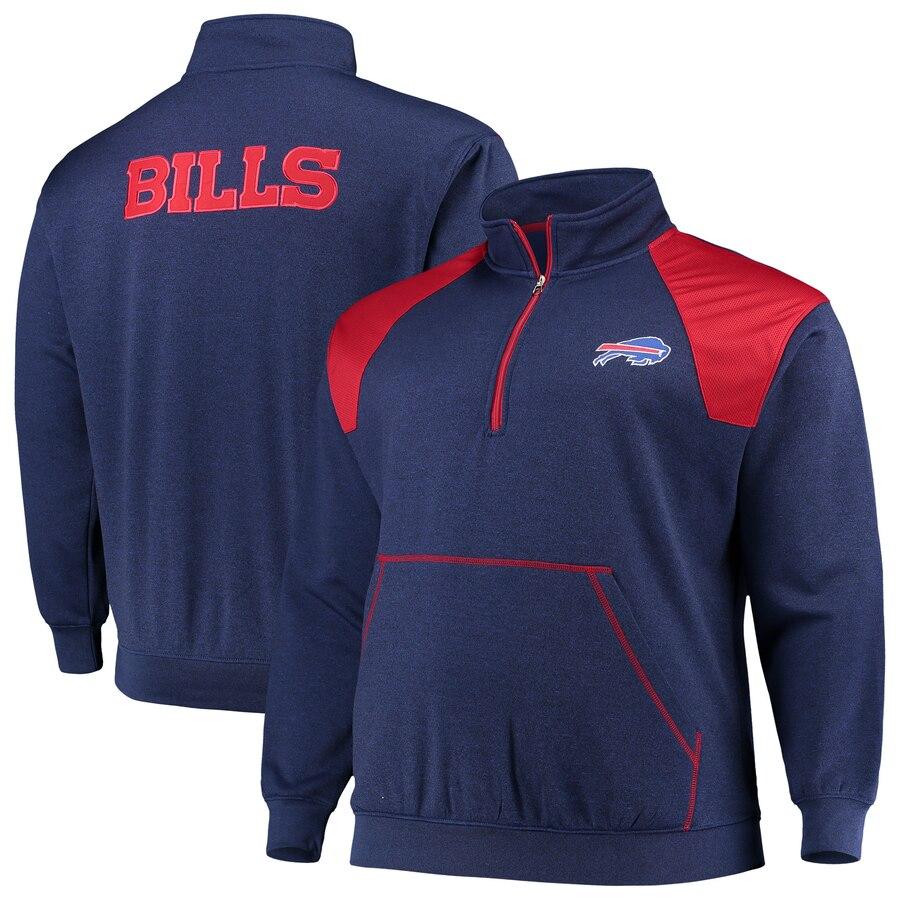 Buffalo Bills Pullover Jacket 1/4 Zip